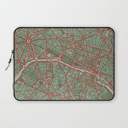 Paris city map pop Laptop Sleeve