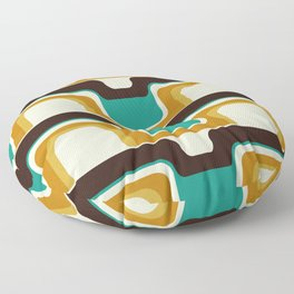 Mid-Century Modern Meets 1970s Teal Floor Pillow