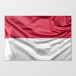 Flag of Indonesia Canvas Print