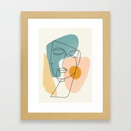 Abstract Face 25 Framed Art Print