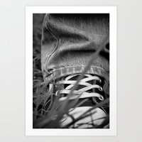 sneakers Art Prints featuring Sneakers by Fine2art
