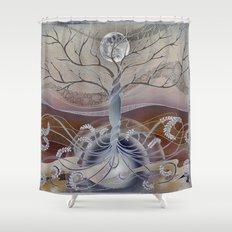 winter in the garden of eden Shower Curtain