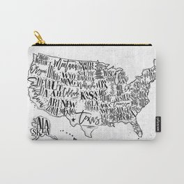 Map USA vintage Carry-All Pouch