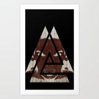Angry Angles Art Print