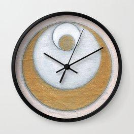 Gold Pink Moon Wall Clock