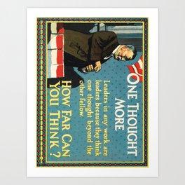 c.j. howard motivational cards. 1925  Affiche Art Print