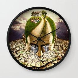 Inhabited Head Wall Clock