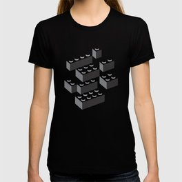 Building Blocks Pattern – Noir T-shirt