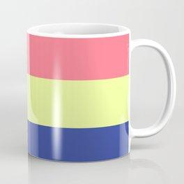 Modern rainbow neon colors color block stripes Coffee Mug