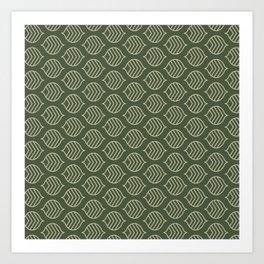 Olive Scales Art Print