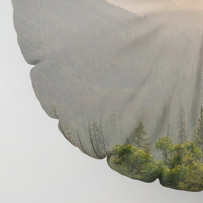 Morning Yosemite Landscape Floor Pillow