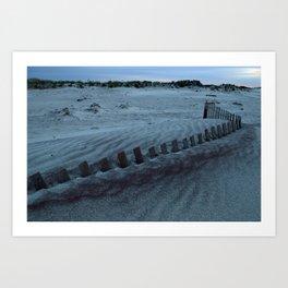 Buried Fences - Jones Beach, Long Island Art Print