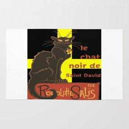Le Chat Noir De Saint David De Rodolphe Salis Rug