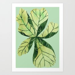 Leaf flower Art Print