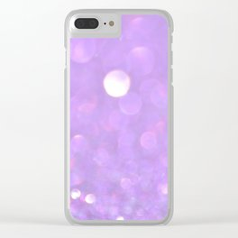 Purple Glitter Clear iPhone Case