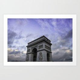 The Arc de Triomphe de l'Etoile Art Print
