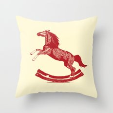 Rocking Horse Throw Pillow