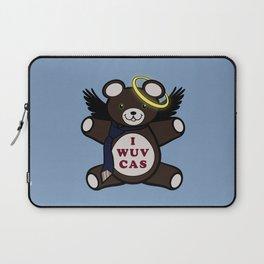 I Wuv Cas Dean Winchester Teddy Bear Laptop Sleeve