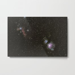 Orion horsehead running man and flame nebula Metal Print