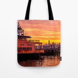 Ferry Boat John F. Kennedy Tote Bag