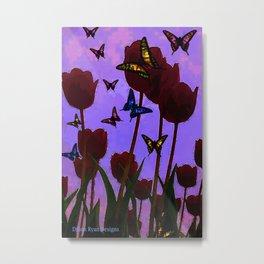 Scary Tulips Metal Print