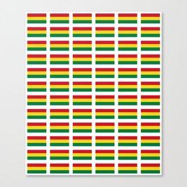 flag of bolivia 2 -bolivian,boliviano,bolivian,Sucre, La Paz. Canvas Print