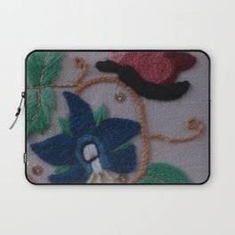 Elizabethan Embroidery Cornflower and Butterfly Laptop Sleeve