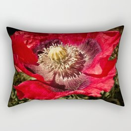 Red Papaver Somniferum Poppy Rectangular Pillow