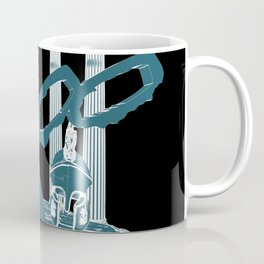 300 Blue and Black Coffee Mug