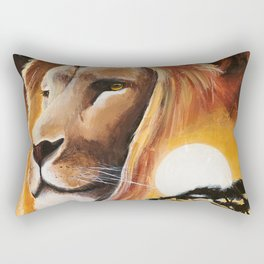 Animal - Lion - Quiet strength - by LiliFlore Rectangular Pillow