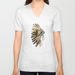 headdress Unisex V-Neck