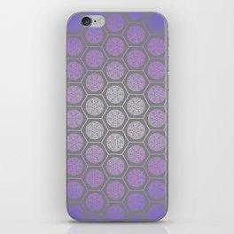 Hexagonal Dreams - Purple Blue Gradient iPhone Skin