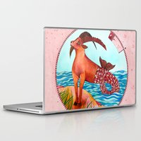 capricorn Laptop & iPad Skins featuring Capricorn by Sandra Nascimento