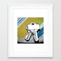 black keys Framed Art Prints featuring Keys by magnez2