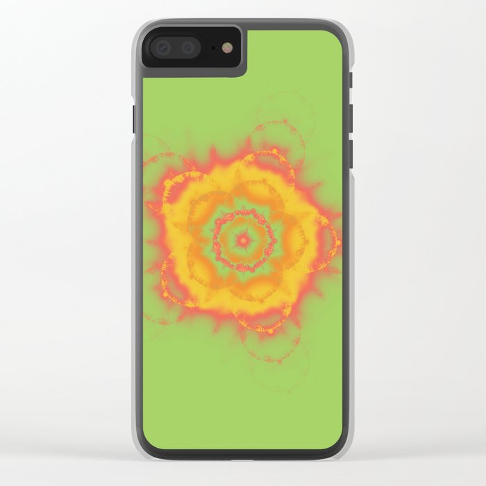 Summer Citrus Clear iPhone Case