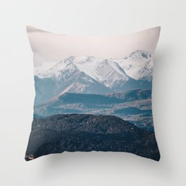 Patagonian Mountain Wall Throw Pillow