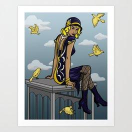 Black Canary  Art Print