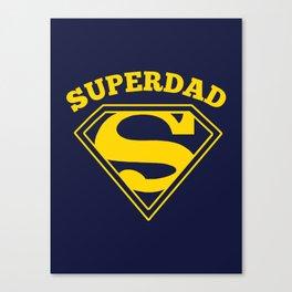 Superdad   Superhero Dad Gift Canvas Print