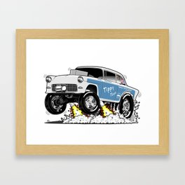 55 Classic Chevy - Tippy Toes Framed Art Print