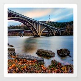 Branson MO Lake Taneycomo Bridge 1x1 Art Print