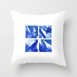 Square Chinoiserie Blue and White China Throw Pillow