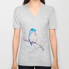 Little Bluebird Unisex V-Neck