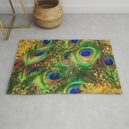 Fantasy Peacock Feathers Rug