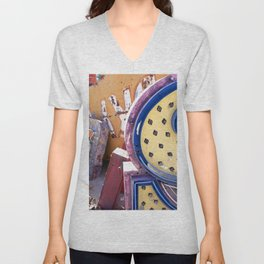 Broken Down Signs, Lights, and Colours in Las Vegas 03 Unisex V-Neck