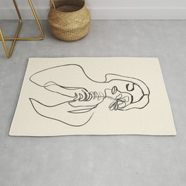 Minimalist Abstract Woman I Rug