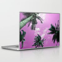 palm trees Laptop & iPad Skins featuring Palm trees by Nicklas Gustafsson