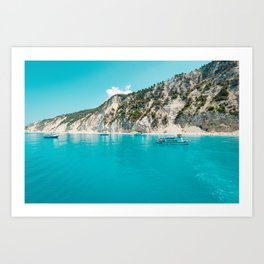 Greece beach paradise Art Print