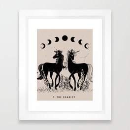7. The Chariot (Unicorns) Framed Art Print