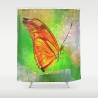 butterfly Shower Curtains featuring Butterfly by haroulita