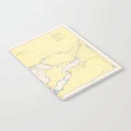 Vintage Map of The Great Lakes (1966) Notebook